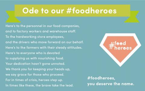Fevia foodheroes_ode to the farmers_proudofourfarmers_nofarmersnofood_avr production continues